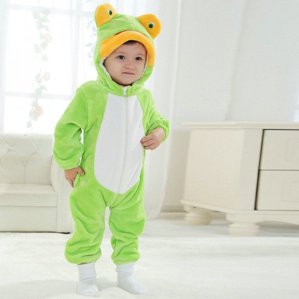 Frog Onesie for Baby & Toddler Animal Kigurumi Pajama Halloween Costumes