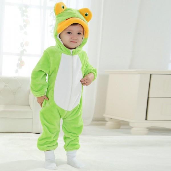 Frog Onesie for Baby & Toddler Animal Kigurumi Pajama Halloween Costumes