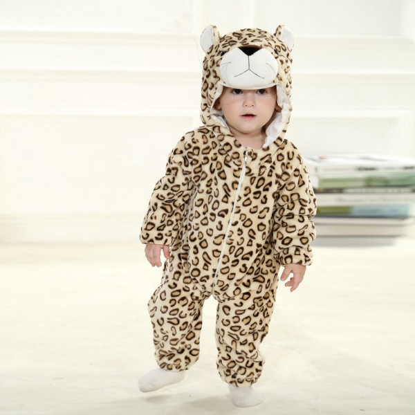 Leopard Onesie for Baby & Toddler Animal Kigurumi Pajama Halloween Costumes