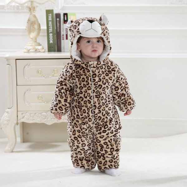 Leopard Onesie for Baby & Toddler Animal Pajama Kigurumi Party Costumes