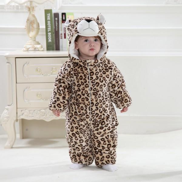 Leopard Onesie for Baby & Toddler Animal Pajama Kigurumi Party Costumes