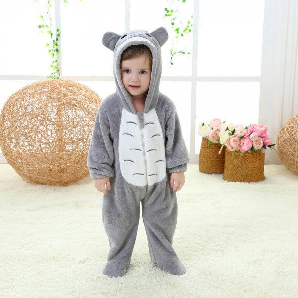 Totoro Onesie for Baby & Toddler Animal Kigurumi Pajama Party Costumes