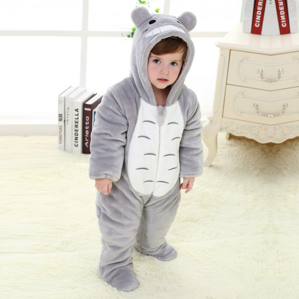 Totoro Onesie for Baby & Toddler Animal Kigurumi Pajama Halloween Costumes