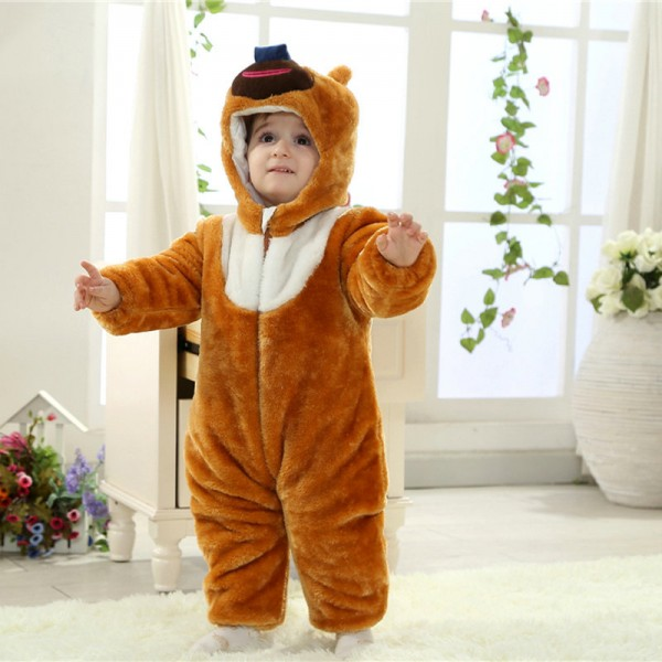 Bramble Bear Onesie for Baby & Toddler Animal Pajama Kigurumi Halloween Costumes