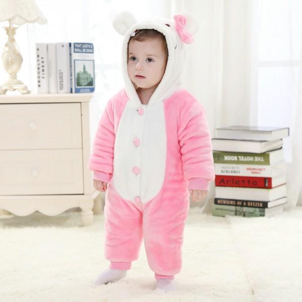 Hello Kitty Onesie for Baby & Toddler Animal Kigurumi Pajama Halloween Costumes