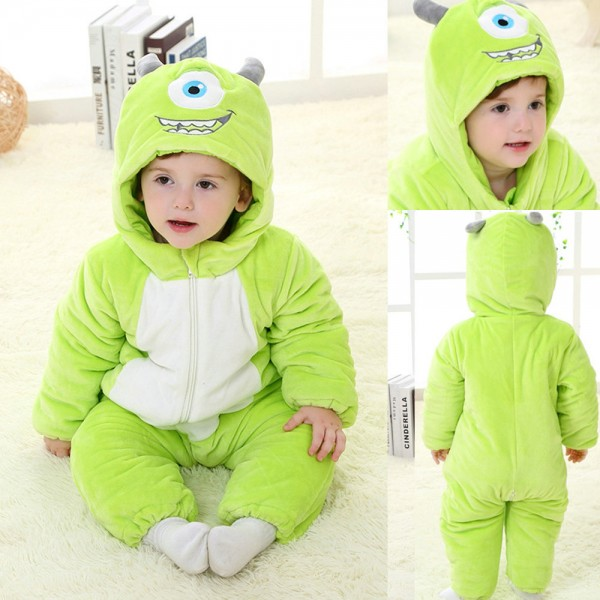 One Eyed Monster Onesie for Baby & Toddler Kigurumi Pajama Disney Monsters Inc Costumes