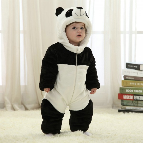 Panda Onesie for Baby & Toddler Animal Kigurumi Pajama Halloween Costumes