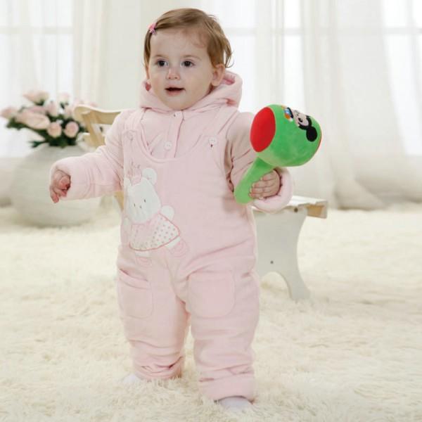 Pink Bear Onesie for Baby & Toddler Animal Kigurumi Pajama Party Costumes