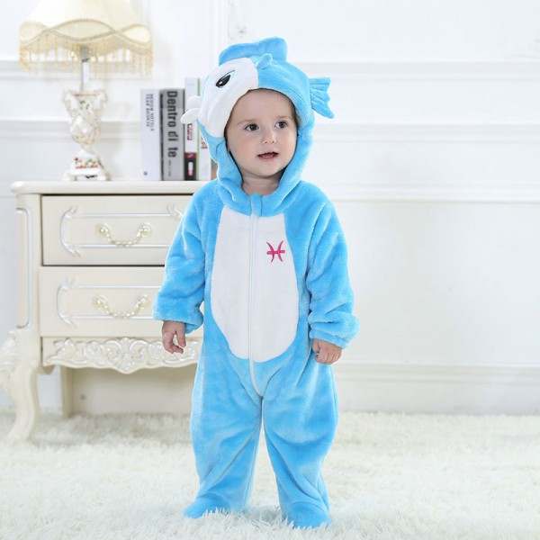 Pisces Onesie for Baby & Toddler Constellation Kigurumi Pajama Party Costumes