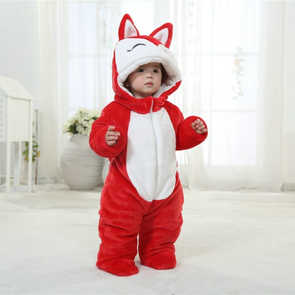 Red Fox Onesie for Baby & Toddler Animal Kigurumi Pajama Party Costumes