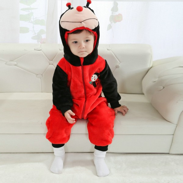 Ladybug Onesie for Baby & Toddler Animal Kigurumi Pajama Halloween Costumes