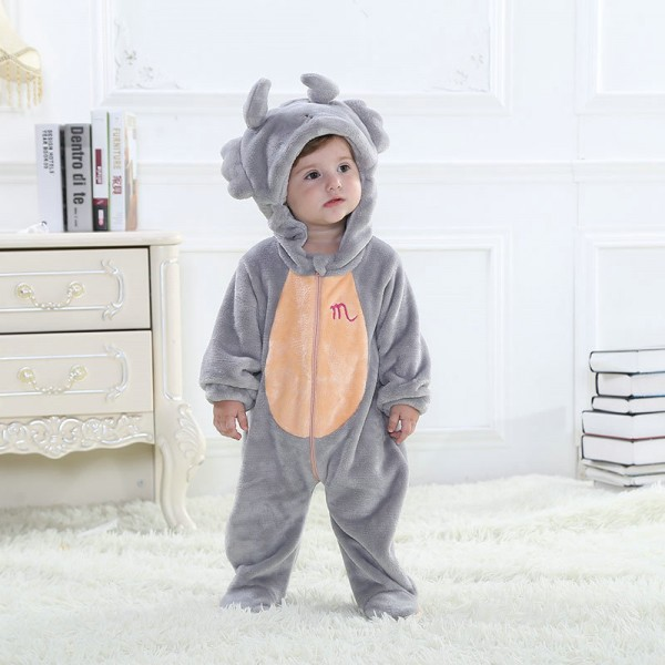 Gray Cancer Onesie for Baby & Toddler Constellation Kigurumi Pajama Halloween Costumes