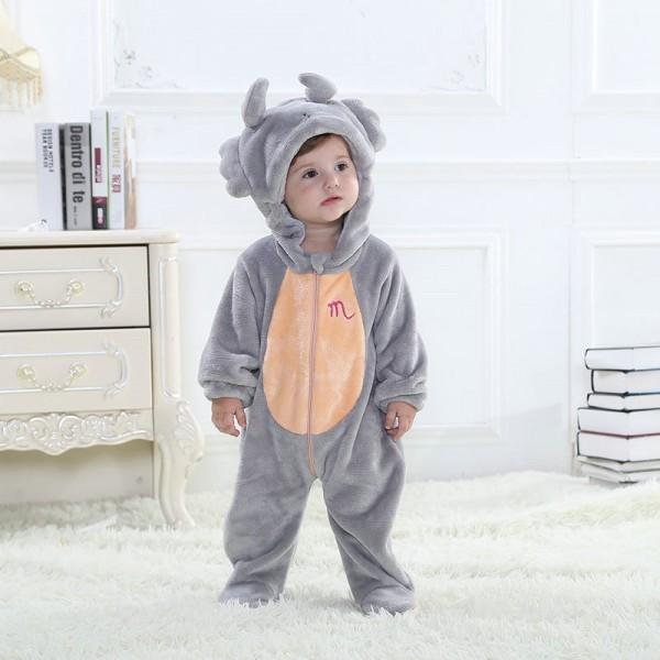 Gray Cancer Onesie for Baby & Toddler Constellation Kigurumi Pajama Halloween Costumes