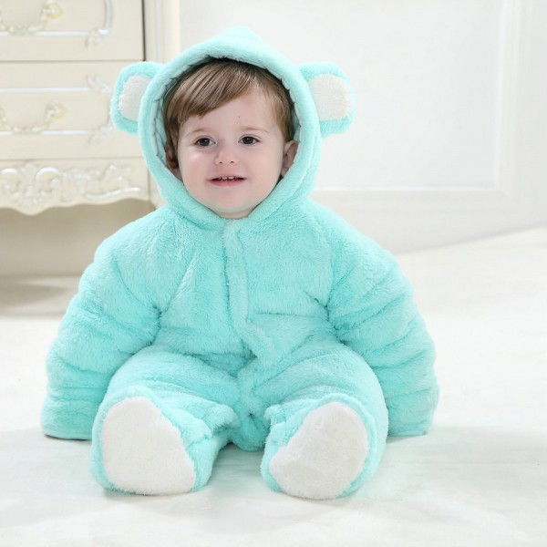 Blue Bear Onesie for Baby & Toddler Kigurumi Animal Pajama Halloween Costumes