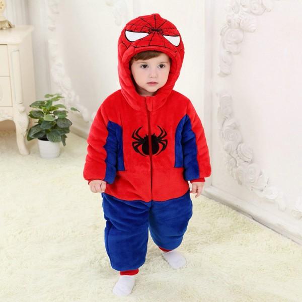Spiderman Onesie for Baby & Toddler Kigurumi Pajama Cosplay Halloween Costumes