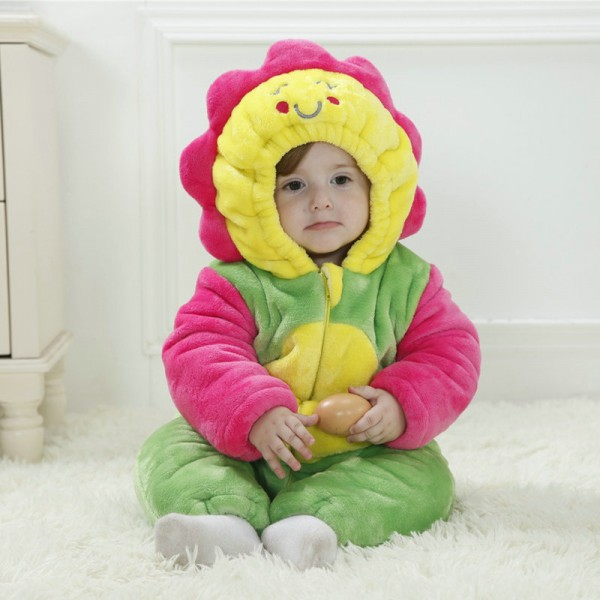 Sunflower Onesie for Baby & Toddler Cartoon Kigurumi Pajama Halloween Costumes