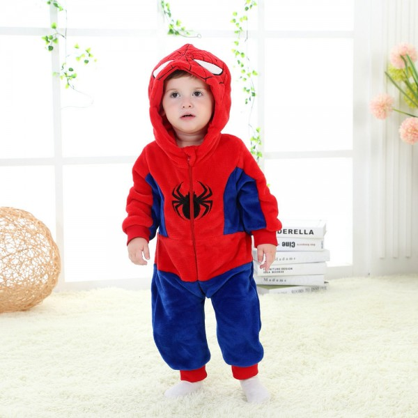 Spiderman Onesie for Baby & Toddler Kigurumi Pajama Cosplay Party Costumes