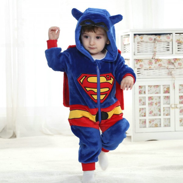 Superman Onesie for Baby & Toddler Kigurumi Pajama Cosplay Halloween Costumes