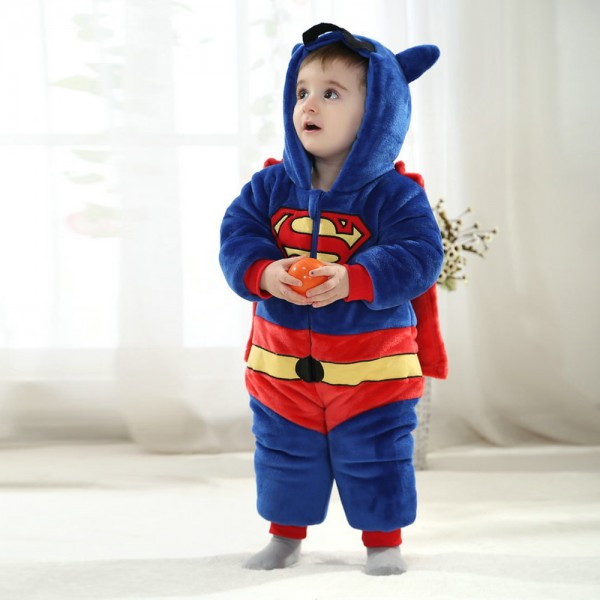 Superman Onesie for Baby & Toddler Kigurumi Pajama Cosplay Party Costumes