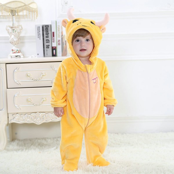 Taurus Onesie for Baby & Toddler Constellation Kigurumi Pajama Party Costumes