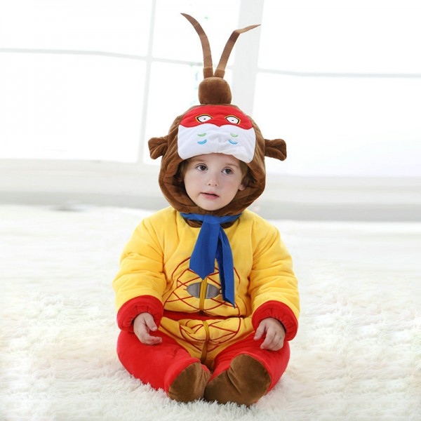 Monkey King Onesie for Baby & Toddler Animal Kigurumi Pajama Party Costumes