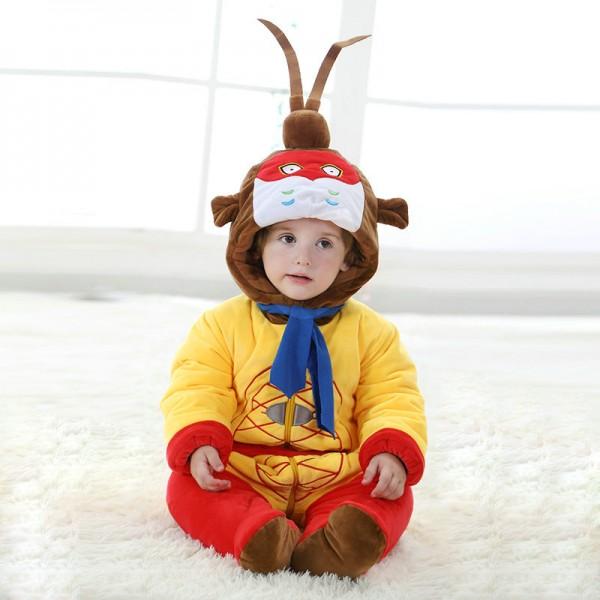 Monkey King Onesie for Baby & Toddler Animal Kigurumi Pajama Party Costumes