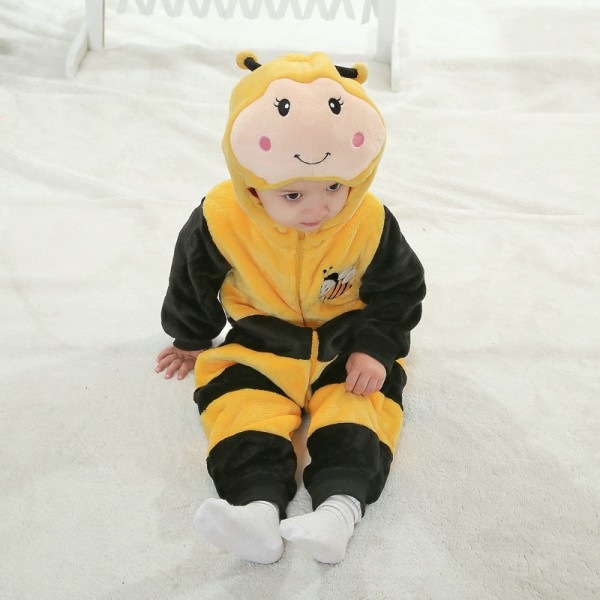Bees Onesie for Baby & Toddler Animal Kigurumi Pajama Party Costumes