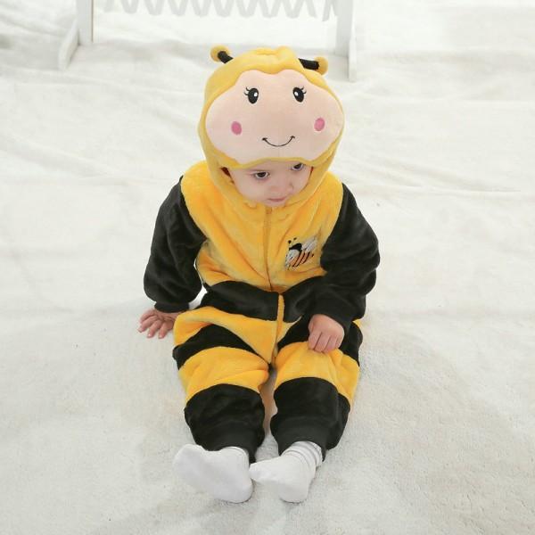 Bees Onesie for Baby & Toddler Animal Kigurumi Pajama Party Costumes