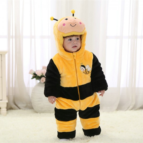 Bees Onesie for Baby & Toddler Animal Kigurumi Pajama Halloween Costumes