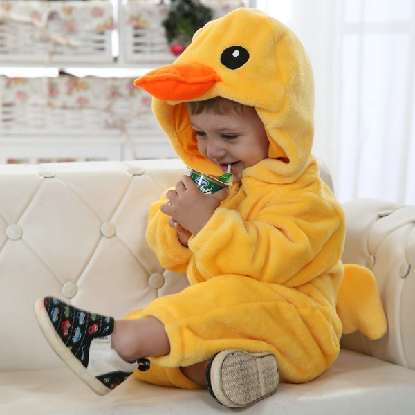 Rubber Duck Onesie for Baby & Toddler Animal Kigurumi Pajama Halloween Costumes