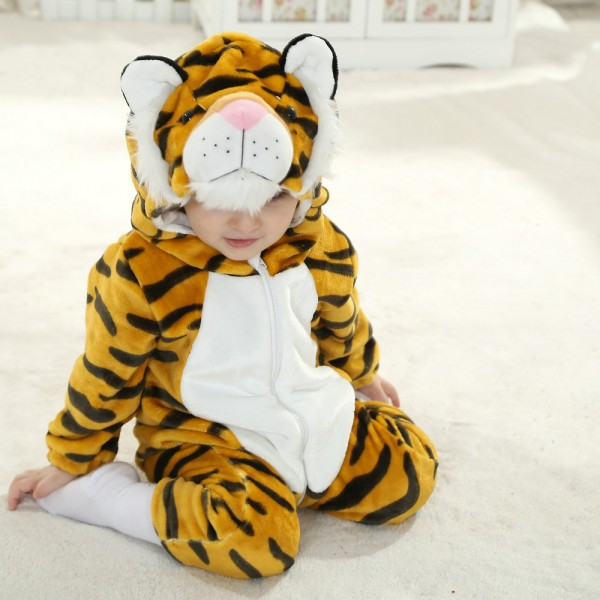 Tiger Onesie for Baby & Toddler Animal Kigurumi Pajama Party Costumes
