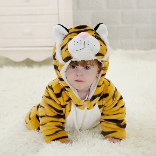 Tiger Onesie for Baby & Toddler Animal Kigurumi Pajama Halloween Costumes