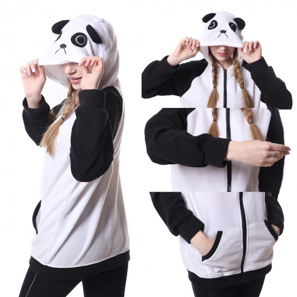 Panda Hoodie Unisex Women & Men Animal Kigurumi Coat Jacket