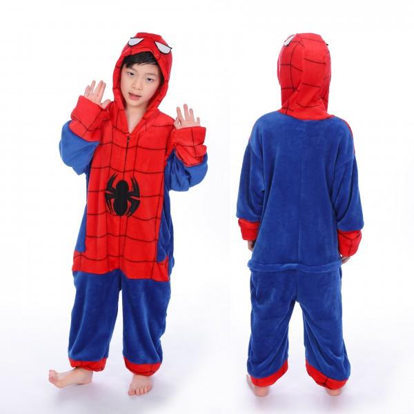 Spiderman Onesie for Kid Kigurumi Pajama Halloween Costumes