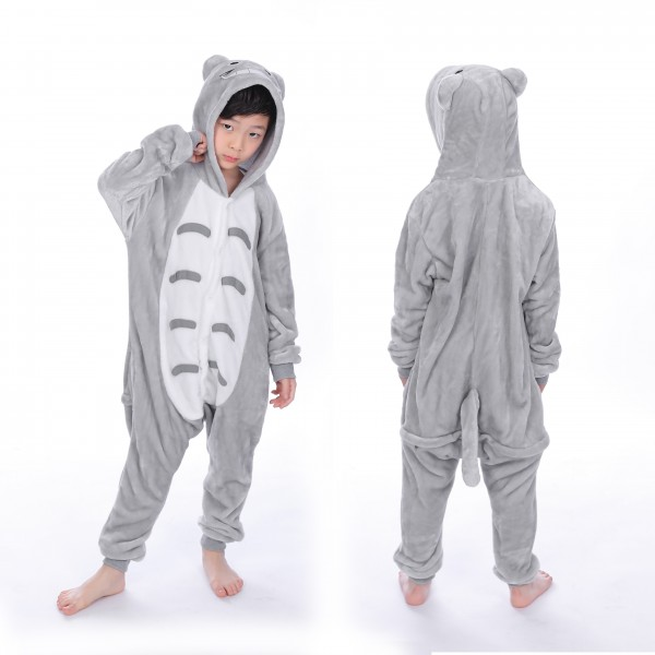 Totoro Onesie for Kid Animal Kigurumi Pajama Halloween Costumes