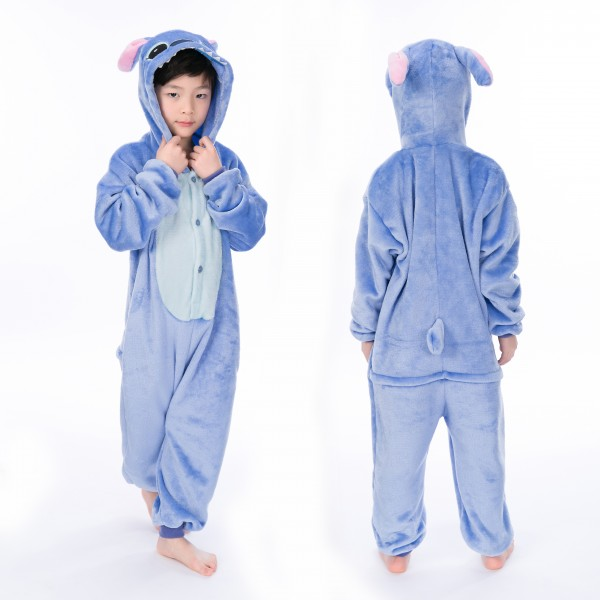 Stitch Onesie for Kid Animal Kigurumi Pajama Disney Halloween Costumes