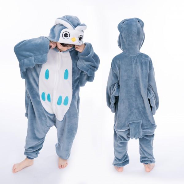 Owl Onesie for Kid Animal Kigurumi Pajama Halloween Costumes