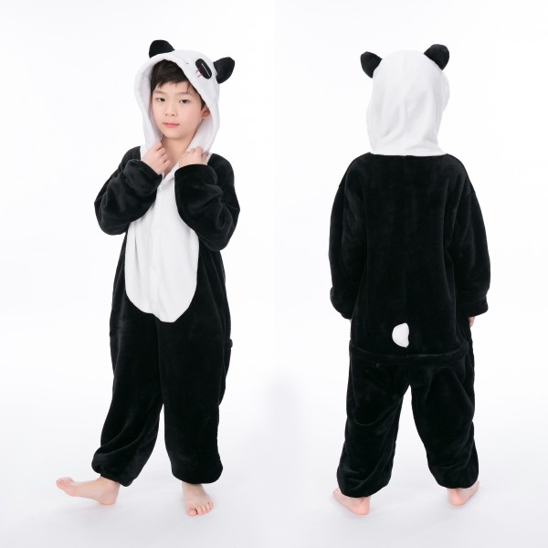 Panda Onesie for Kid Animal Kigurumi Pajama Halloween Party Costumes