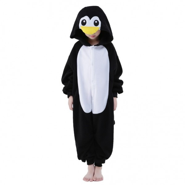 Penguin Onesie for Kid Animal Kigurumi Pajama Halloween Party Costumes