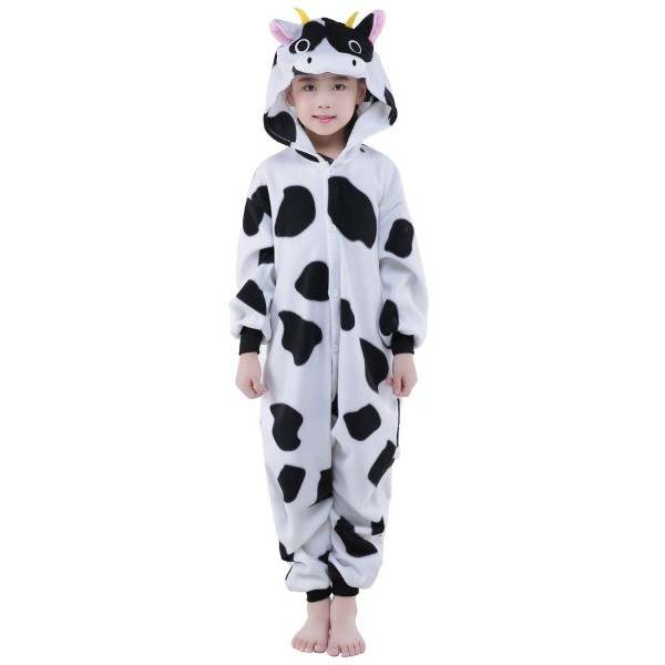 Cow Onesie for Kid Animal Kigurumi Pajama Party Costumes