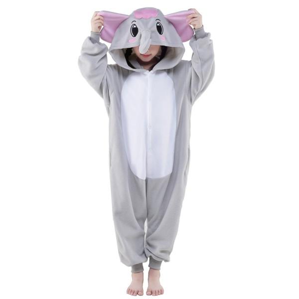 Gray Elephant Onesie for Kid Animal Kigurumi Pajama Halloween Costumes