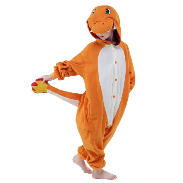 Charmander Onesie for Kid Kigurumi Animal Pajama Pokemon Cosplay Party Costumes