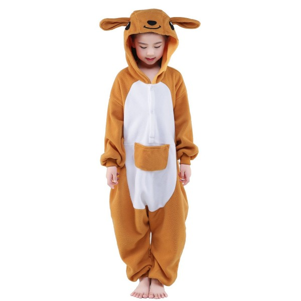 Kangaroo Onesie for Kid Animal Kigurumi Pajama Halloween Costumes