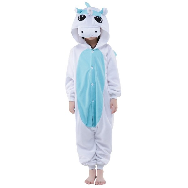 Blue Pegasus Onesie for Kid Animal Kigurumi Pajama Halloween Costumes