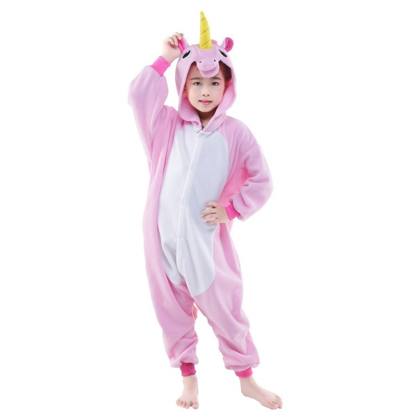 Pink Unicorn Onesie for Kid Animal Kigurumi Pajama Party Costumes
