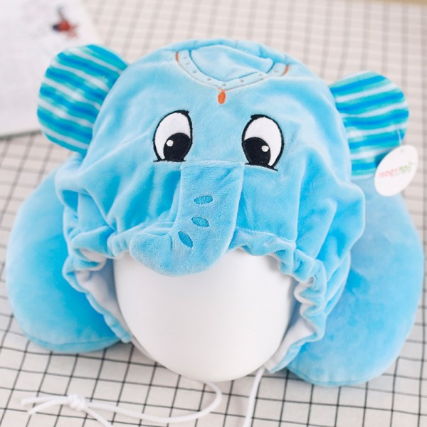 Blue Elephant Neck Pillow