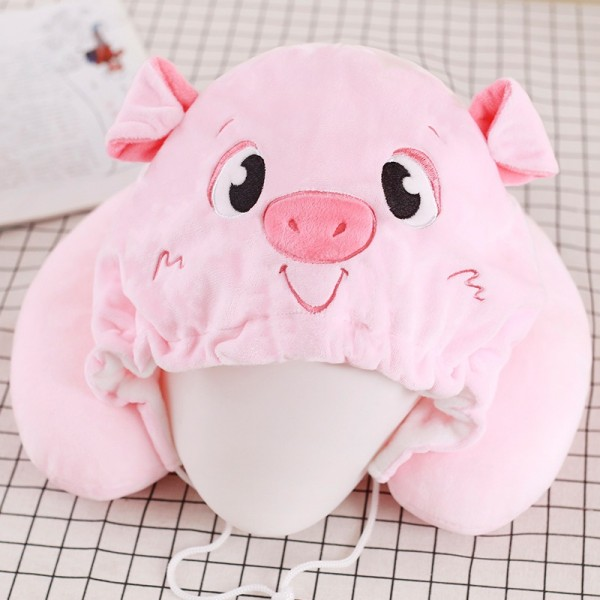 Pink Pig Neck Pillow